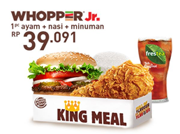 Menu Burger King, King Meals